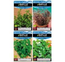 Kit 4 semillas ecológicas aromáticas
