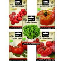 Kit 5 semillas ecológicas tomates - Huerto Urbano en Barcelona